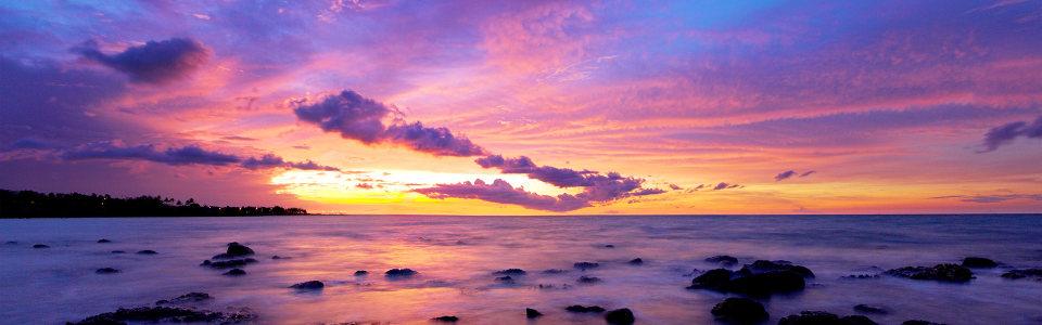 唯美夕阳超好看背景