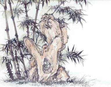 中国风古树画