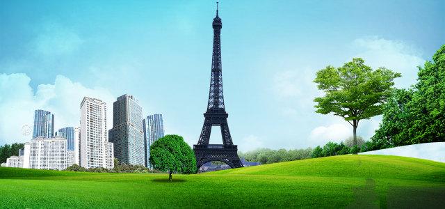 文明城市大气背景