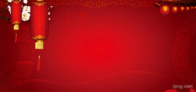 红色中国风喜庆背景背景高清大图-国风背景底纹/肌理