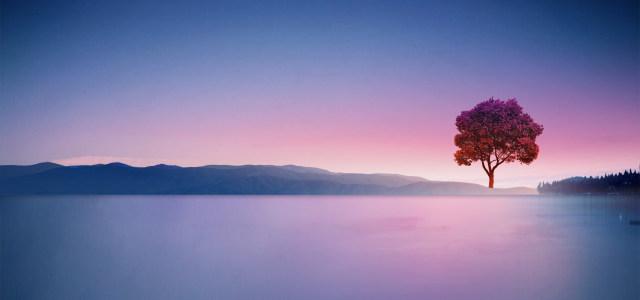 梦幻山湖背景