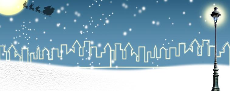唯美冬季雪景海报背景banner高清背景图片素材下载