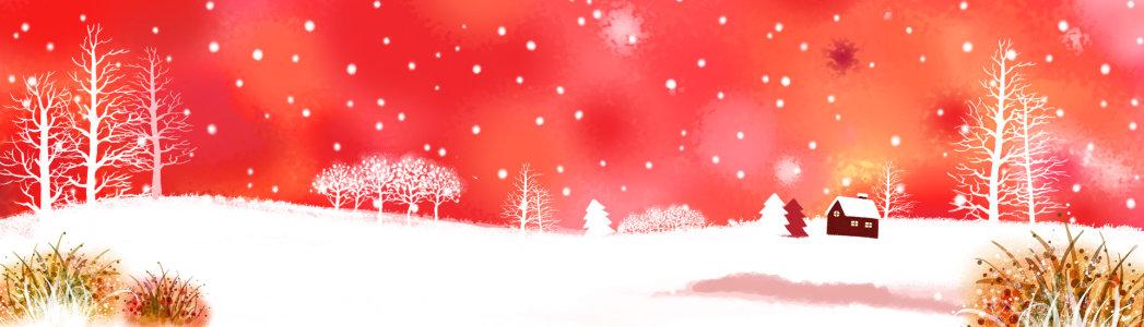 雪景背景高清背景图片素材下载