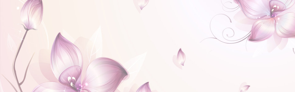 梦幻花朵淘宝海报