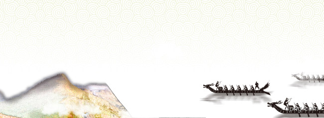 赛龙舟banner创意设计背景高清大图-龙舟背景Banner海报