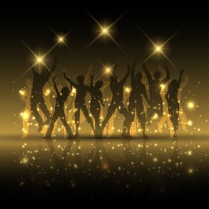 星光下欢呼的人群矢量高清背景图片素材下载
