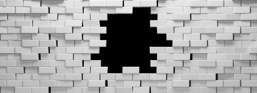 白色墙洞个性背景banner