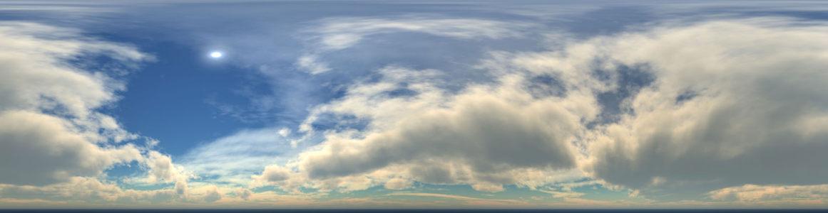 蓝天云朵海报背景