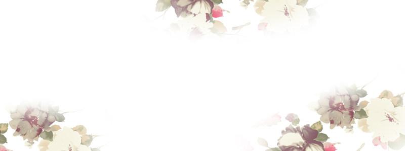 梦幻洁白花朵背景