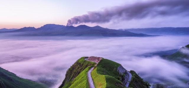 天空云海山峰背景