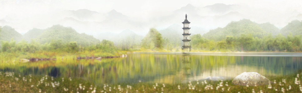 中国画banner创意设计