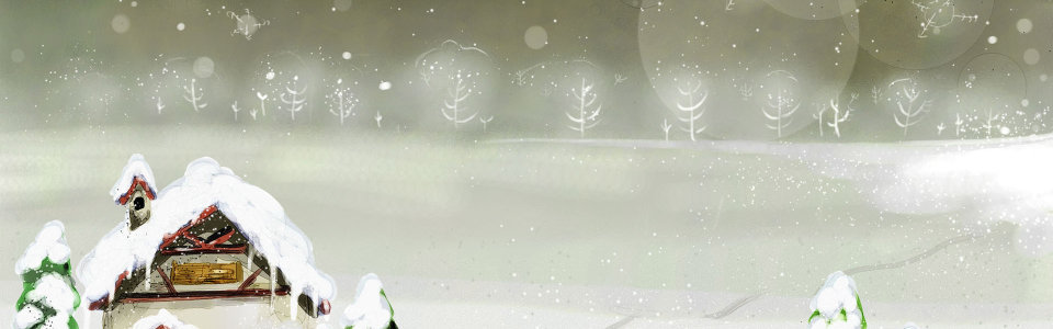 下雪童话梦幻背景