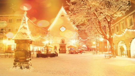 冬季夜景背景