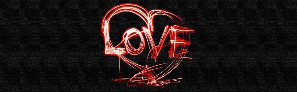 手绘创意烟火love情人节海报背景