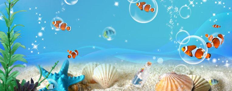 海底世界背景高清背景图片素材下载
