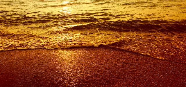 夕阳摄影背景