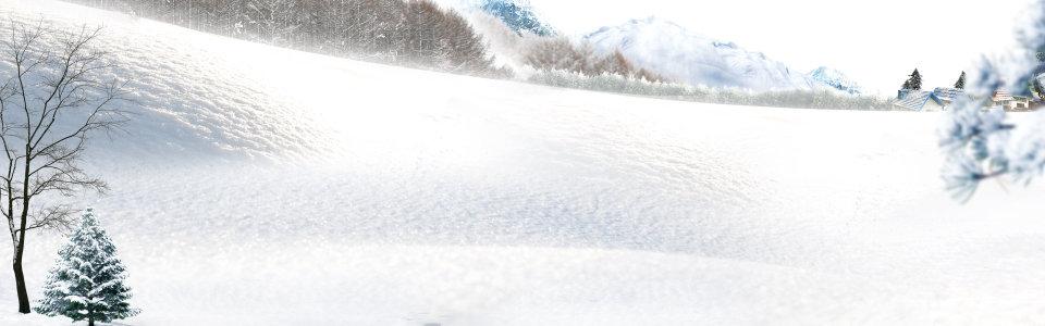 雪山背景 冬季海报背景