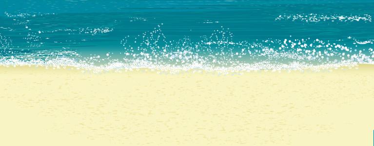 海滩插画背景高清背景图片素材下载
