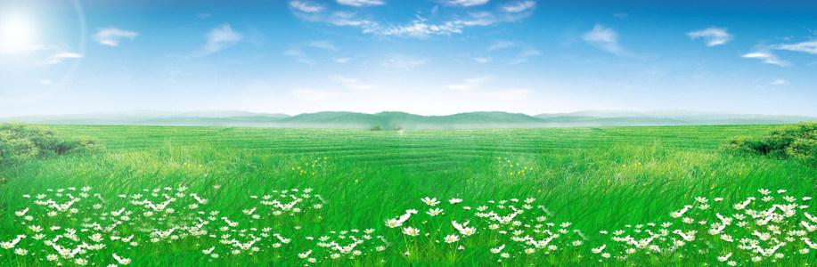 牧场天空白云背景