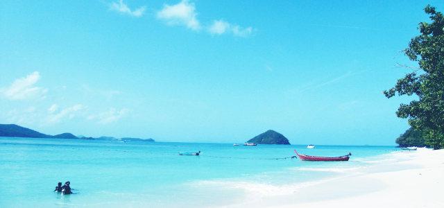 大海沙滩天空背景高清背景图片素材下载