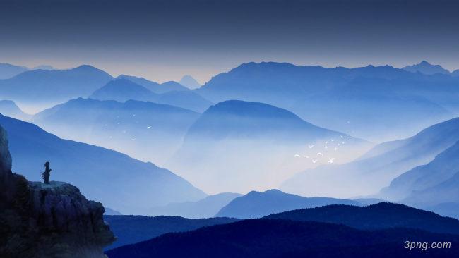 山峰山脉背景高清大图 山脉背景古典 中国风 三元素3png.com