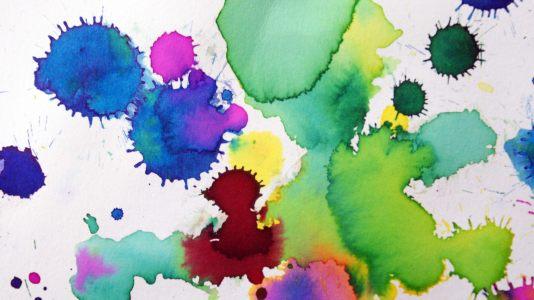彩色泼墨高清背景高清背景图片素材下载