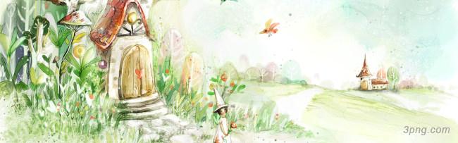 花草水彩图案背景高清大图-水彩背景自然/风光