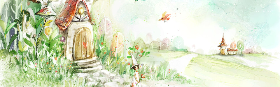 花草水彩图案高清背景图片素材下载