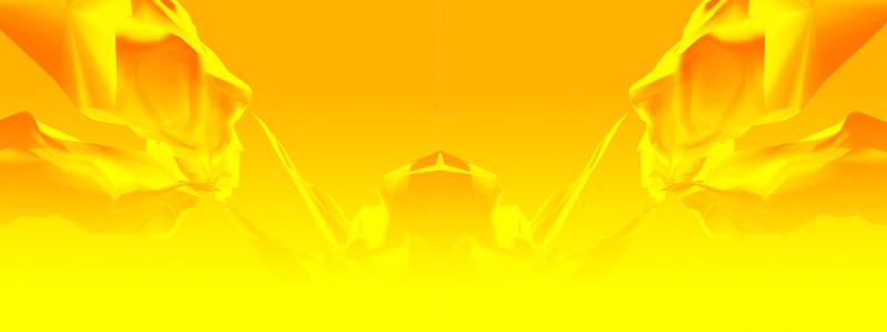 电商黄色立体几何背景banner高清背景图片素材下载