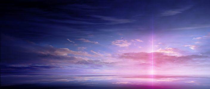 晚霞天空背景