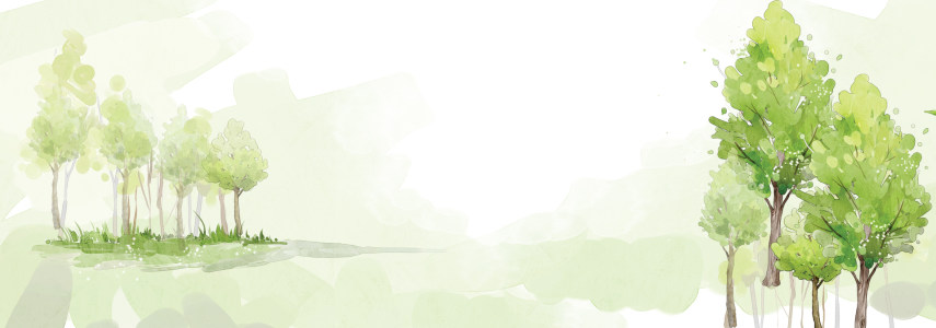 树林水墨清新背景banner