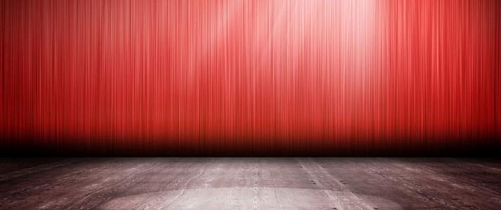 红色舞台海报背景高清背景图片素材下载