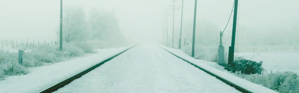 铁路雪景高清背景图片素材下载