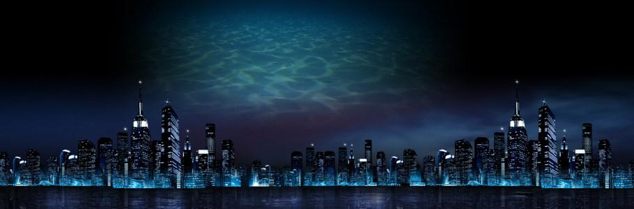 深邃夜晚都市美景海报背景