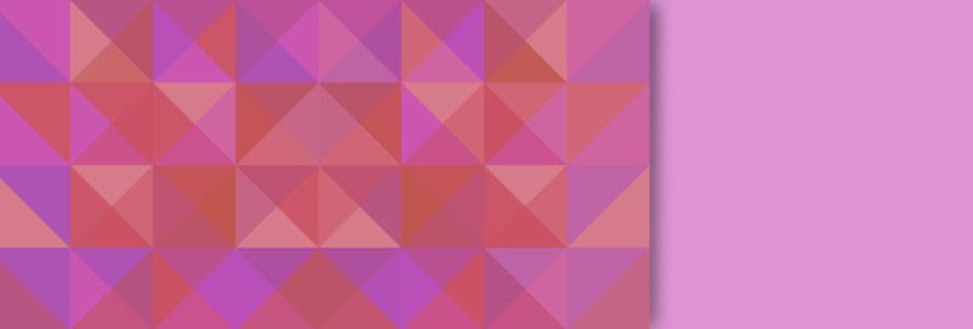 枚红色拼接方形banner背景