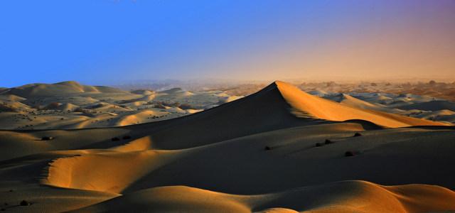 夕阳大沙漠背景