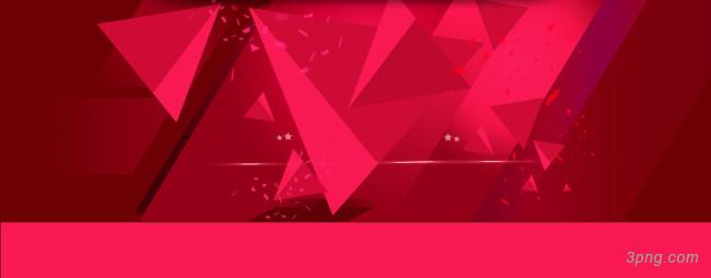 红色立体几何背景背景高清大图-立体几何背景扁平/渐变/几何
