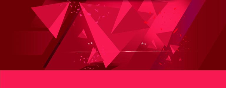 红色立体几何背景高清背景图片素材下载