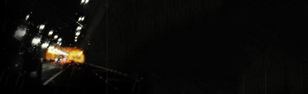 虚化黑色雨季背景banner高清背景图片素材下载