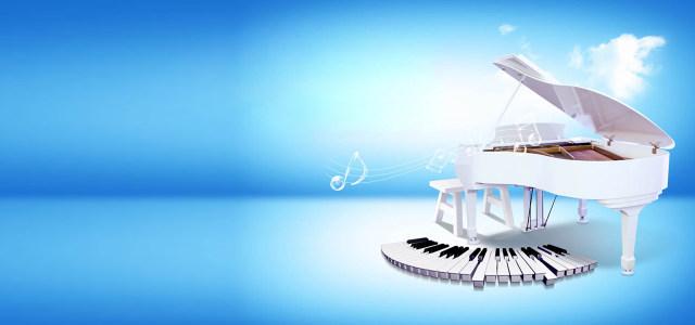 白色钢琴音乐背景