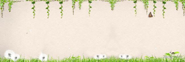 质感墙壁绿色植物海报背景背景高清大图-绿色植物背景底纹/肌理