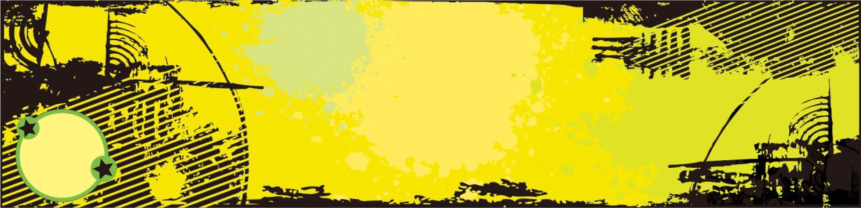 黄色复古风格潮流banner背景