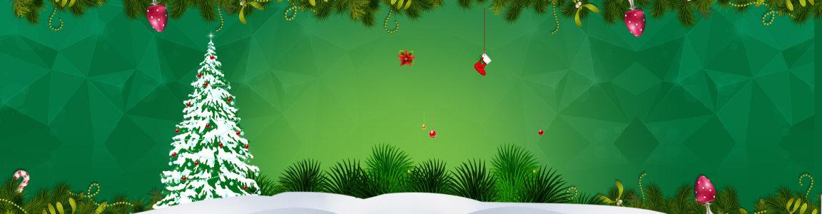 圣诞狂欢季首页海报高清背景图片素材下载