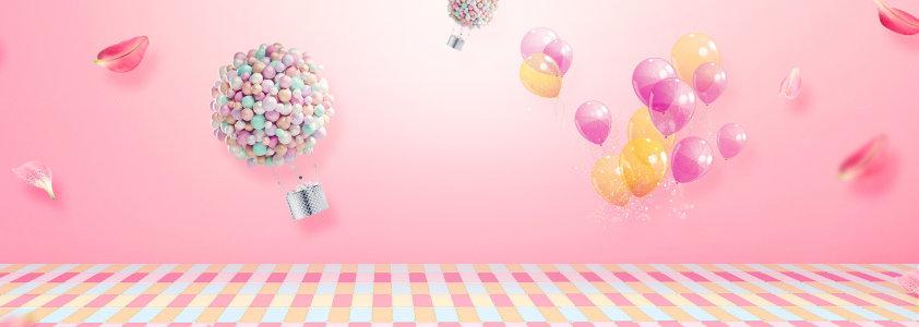 粉色banner背景高清背景图片素材下载