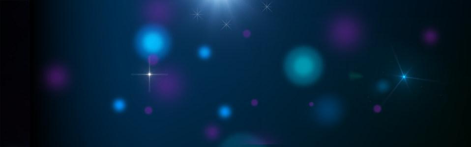 蓝色背景海报