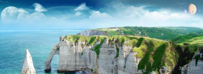 海边风景背景背景高清大图-海边背景自然/风光