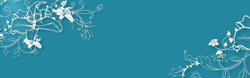 时尚蓝色花纹背景banner