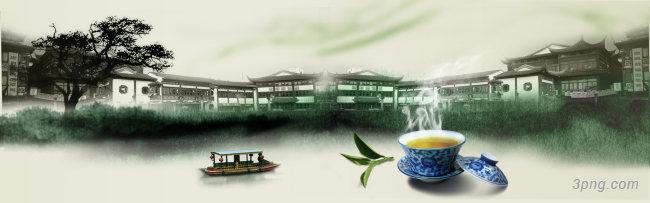 茶江南古镇背景背景高清大图-江南背景古典/中国风