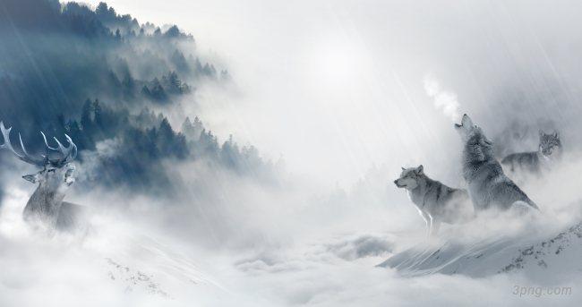 雪狼团队企业文化背景背景高清大图-团队背景自然/风光