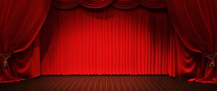 红色幕布背景高清背景图片素材下载